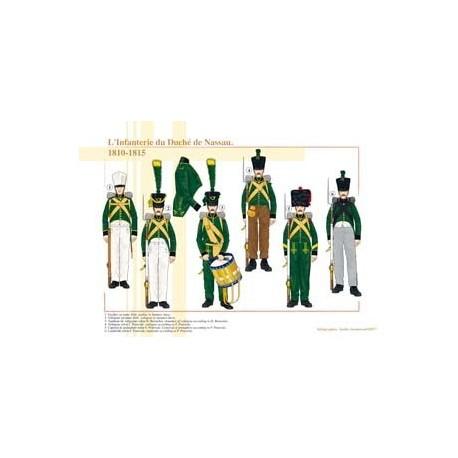 Die Infanterie des Herzogtums Nassau, 1810-1815