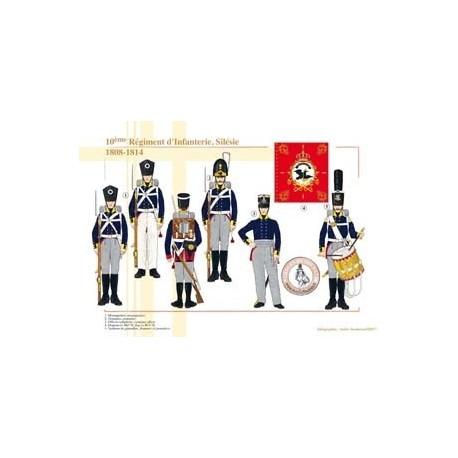 10ème Régiment d'Infanterie, Silésie, 1808-1814