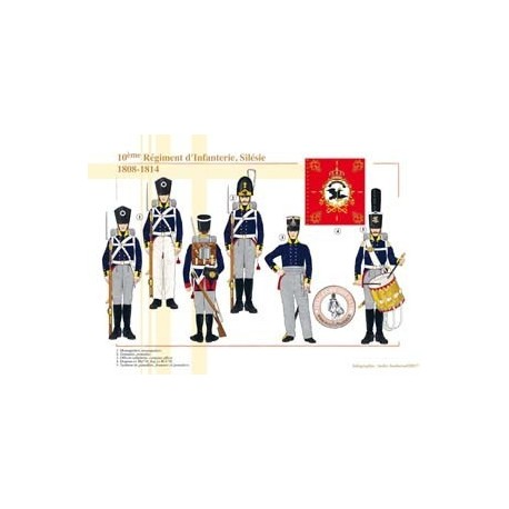 10th Infantry Regiment, Silesia, 1808-1814