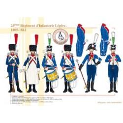 25ème Régiment d'Infanterie Légère, 1805-1812