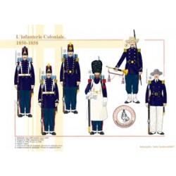 Die koloniale Infanterie, 1850-1858