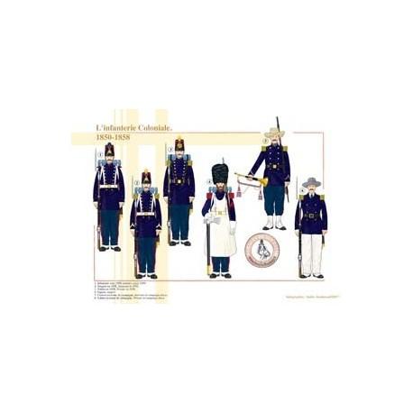 L'Infanterie Coloniale, 1850-1858