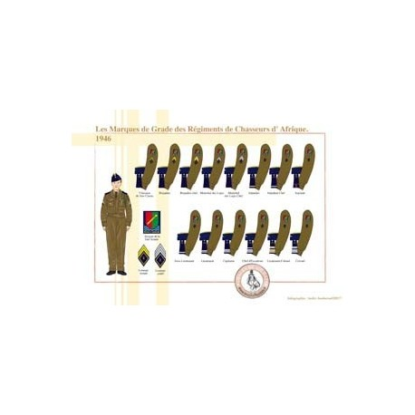 Les Marques de Grade des Régiments de Chasseurs d'Afrique, 1946