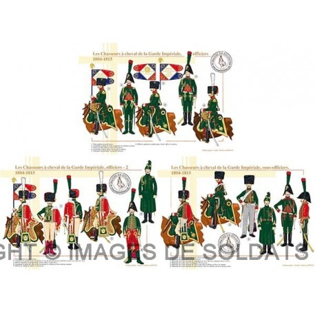 Les Chasseurs à cheval de la Garde Impériale, officiers et sous-officiers, 1804-1815