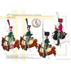 10ème Régiment de Chasseurs à Cheval, 1805-1812