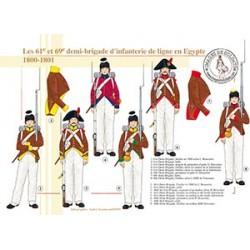 Les 61e et 69e demi-brigades d'infanterie de ligne en Egypte, 1800-1801