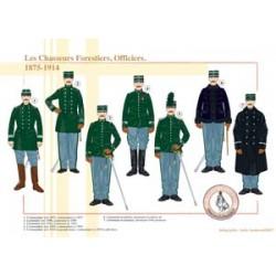 Les Chasseurs Forestiers, Officiers, 1875-1914