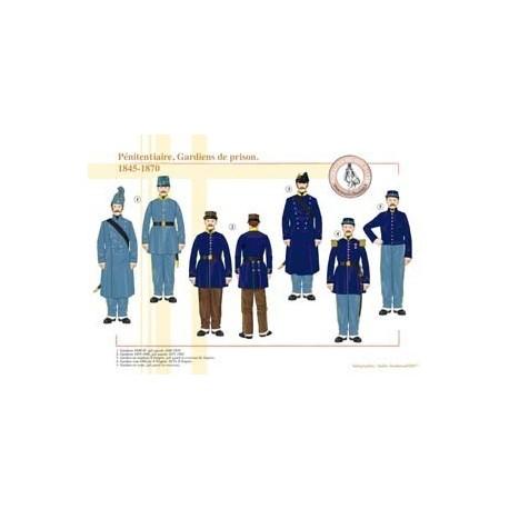 Pénitentiaire, Gardiens de prison, 1845-1870