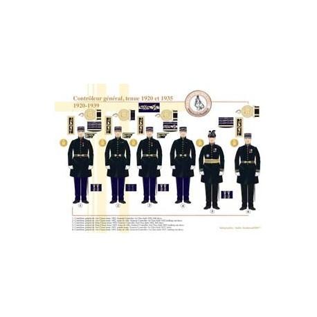 Contrôleur général, tenue 1920 et 1935, 1920-1939