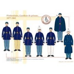 Pénitentiaire, Gardiens de prisons, 1877-1882