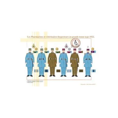 Les Pharmaciens et vétérinaires-inspecteurs en grande tenue type 1922