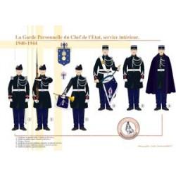 La Garde Personnelle du Chef de L'État, service intérieur, 1940-1944