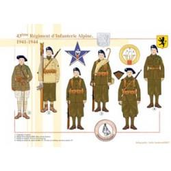 43ème Régiment d'Infanterie Alpine, 1941-1944