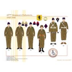 43ème Régiment d'Infanterie, 1945-1946