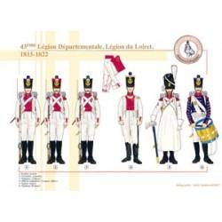 43ème Légion Départementale, Légion du Loiret, 1815-1822