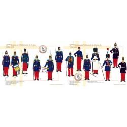 43. Linieninfanterieregiment (1 und 2), 1854-1858