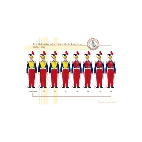 The distinctive of the regiments of Lancers, on 1854-1868