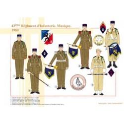 43. Infanterieregiment, Musik, 1980
