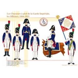 Les Chasseurs à pied de la Garde Impériale, les officiers, 1804-1815