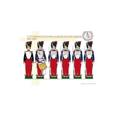 Le 2ème régiment de Grenadiers à pied de la Garde Impériale, 1857-1860