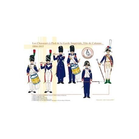 Les Chasseurs à Pied de la Garde Impériale, Tête de colonne, 1804-1815