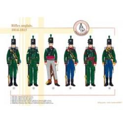 Rifles anglais, 1814-1815