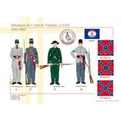 Infanterie de l'état de Virginie (2), CSA, 1861-1865