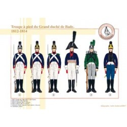 Fußtruppe des Großherzogtums Baden, 1812-1814