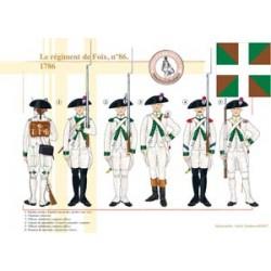 Le régiment de Foix, n°86, 1786