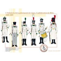 L'Infanterie de la principauté de Lippe, Confédération du Rhin, 1808-1809