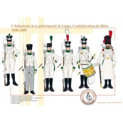 The Infantry of the Principality of Lippe, Confederation of the Rhine, 1808-1809