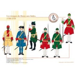 Bussy's Truppen in Indien, 1750-1755