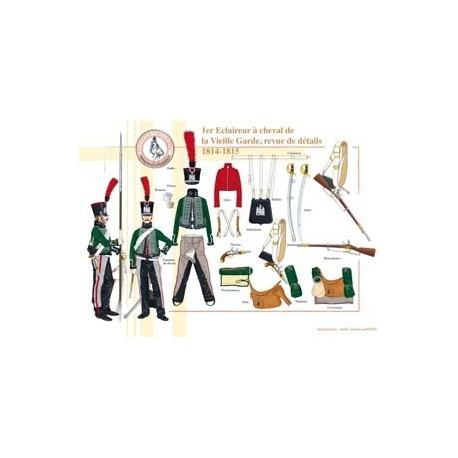 1er Eclaireur à cheval de la Vieille Garde, revue de détails, 1814-1815