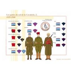 Les pattes de col de la Cavalerie (2), 1935-1940