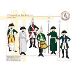 L'Infanterie du Tsar Paul 1er, 1798-1802