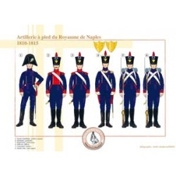 Artillery on foot from the Kingdom of Naples, 1810-1815