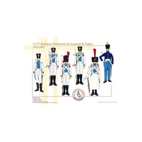 Le 1er Régiment d'Infanterie du royaume de Naples, 1813-1815