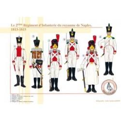 Le 2ème Régiment d'Infanterie du royaume de Naples, 1813-1815