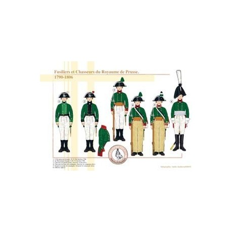 Fusiliers et Chasseurs du Royaume de Prusse, 1790-1806