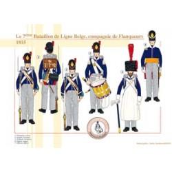 Le 7ème Bataillon de Ligne Belge, compagnie de Flanqueurs, 1815