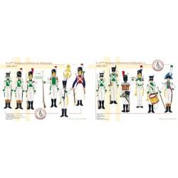 Das 6. Niederländische Infanterieregiment (1 und 2), 1806-1813