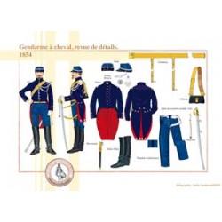Gendarme zu Pferd, Überprüfung der Details, 1854