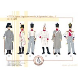 43ème Légion Départementale, Légion du Loiret (2), 1815-1822