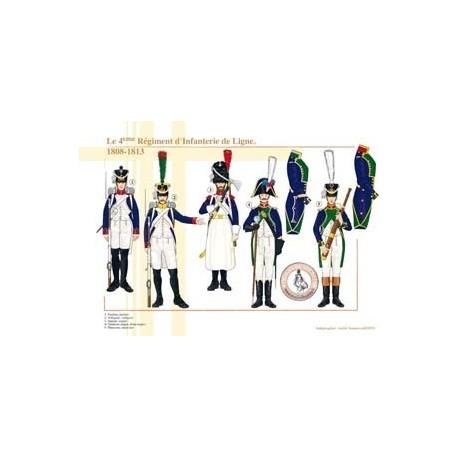 Le 4ème Régiment d'Infanterie de Ligne, 1808-1813