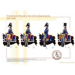 Gendarmerie à cheval des départements, 1825-1830