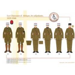Les Chasseurs d'Afrique, les adjudants, 1935-1940