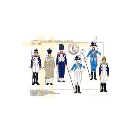 Le 5ème Régiment d'Infanterie de Ligne, 1808-1810