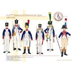 Le 6ème Régiment d'Infanterie de Ligne, 1805-1812