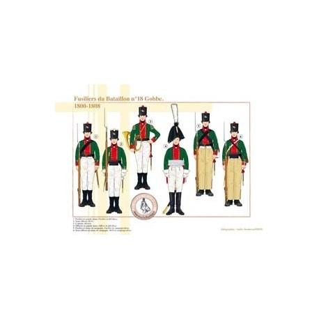 Fusiliers du Bataillon n°18 Gobbe, 1800-1808