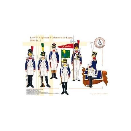 Le 9ème Régiment d'Infanterie de Ligne, 1806-1812